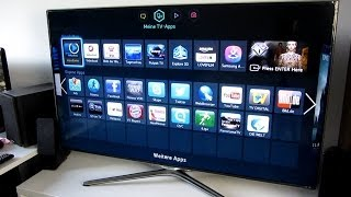 SAMSUNG UE46F6500 SMART TV UNBOXING INSTALLATION DEUTSCH HD