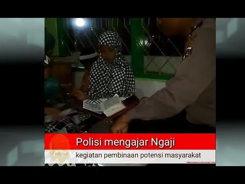 Mengabdi Setulus Hati | Polisi mengajar Ngaji