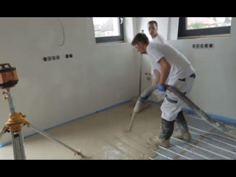 Příprava na lití podlahy