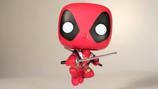 Marvel LEAPING DEADPOOL Funko Pop review
