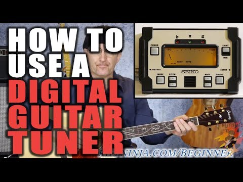 How To Use A Digital Guitar Tuner (Guitar Tuning Lesson)