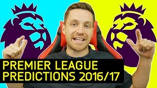 MY 2016/17 PREMIER LEAGUE PREDICTIONS  IMO 27