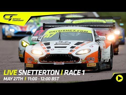 LIVE - Race 1 - Snetterton - British GT 2018