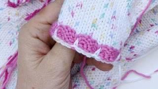 Babyjacke Häkeln Anleitung Strickjacke Teil 1 Rückenteil Mit