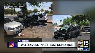PD: 2 people hospitalized after car crash