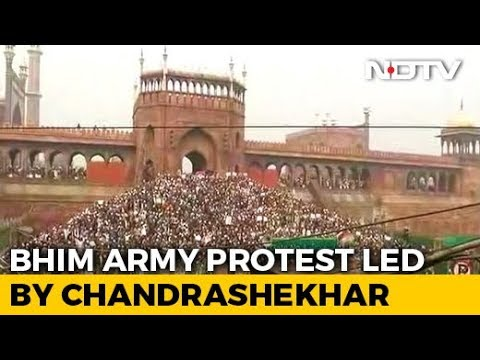 Bhim Army's Chandrashekhar Azad Leads Big Protest At Delhi's Jama Masjid