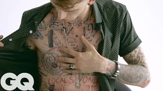 The Late-Night Ink of Machine Gun Kelly | Tattoo Tour | GQ