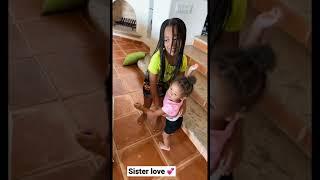 Sister Love, Cali and her little sister Kirah 💕 #shorts   FamousTubeFamily