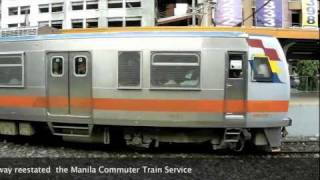 preview picture of video 'PNR Commuter Philippine National Railways Manila'