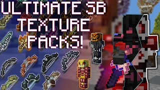 The BEST Hypixel Skyblock TEXTURE PACKS! [PACK RELEASE]