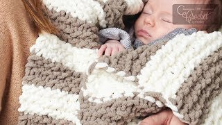 Knit Baby Blanket for Beginners | The Crochet Crowd