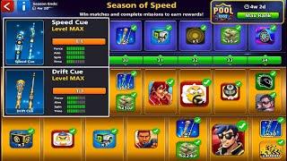 8 ball pool Season of Speed 💪 Unlock All Rewards Pool Pass