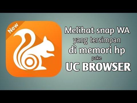 Cara lihat snap WA pake aplikasi UC browser