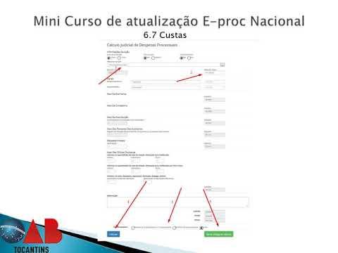 Mini curso de atualização sobre e-Proc nacional