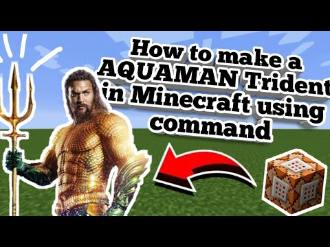 How to make AQUAMAN Trident in Minecraft PE - Mr  H plåyz - Video