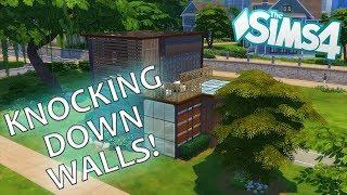 KNOCKING DOWN WALLS! - the Sims 4 no walls challenge