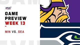 Minnesota Vikings vs Seattle Seahawks Week 13 NFL Game Preview