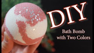 How To Make A Bath Bomb With Two Colors | How To Make A Bath Bomb