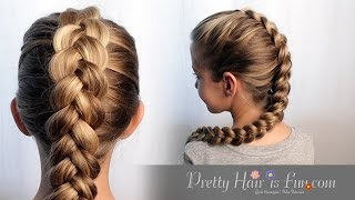 HOW TO DUTCH BRAID HAIR TUTORIAL!! 