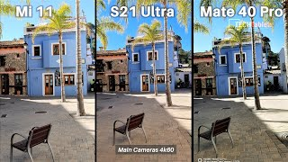 Xiaomi Mi 11 Vs Samsung Galaxy S21 Ultra Vs Huawei Mate 40 Pro Camera Comparison