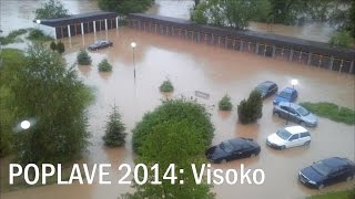 preview picture of video 'Poplave: Visoko, Naselje Luke IV - Rijeka Bosna dosegla rekordni nivo'
