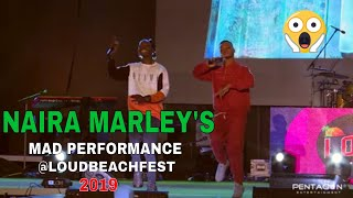 Naira Marley's Mad Performance @LOUDBEACHFEST 2019, JAPA, ISSA GOAL And More, Poco Lee Joins Him.
