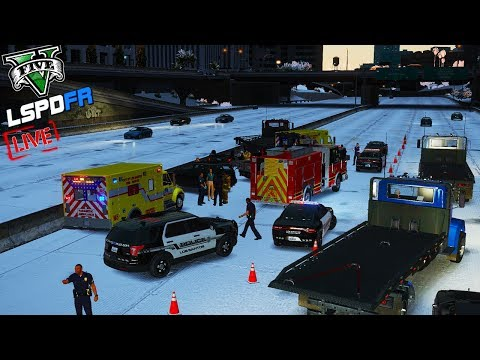 GTA 5 LSPDFR - Assistance Required  (LSPD Snow Patrol) #GTA5 #LSPDFR #live #Roadto800
