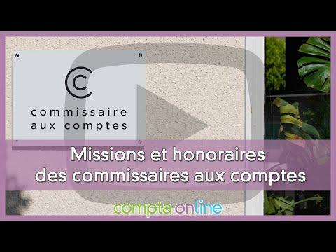 Missions et honoraires des commissaires aux comptes