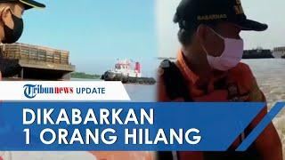 Perahu Kayu Warga Tersedot Arus Kapal Ponton di Mahakam saat Cari Sisa Besi, 1 Orang Hilang