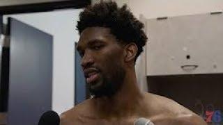 Joel Embiid Postgame Interview | 76ers vs Warriors | November 11, 2017 | 2017-18 NBA Season