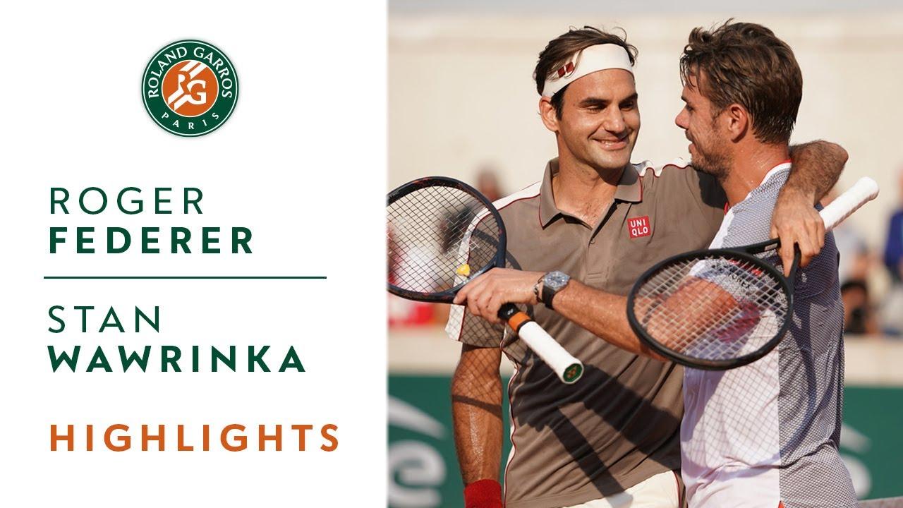 Обзор четвертьфинала Федерер - Вавринка на Ролан Гаррос (ВИДЕО)