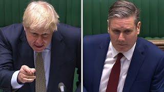 video: Boris Johnson accuses Keir Starmer of undermining Brexit vote as pair clash over Russia
