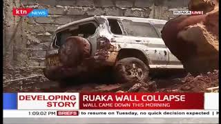 Residents of a Ruaka apartment ordered to vacate as wall collapses