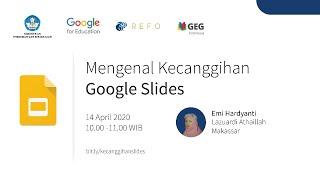 """""""Topik ini akan mengajarkan bagaimana membuat atau mengimpor, menambahkan konten, berbagi dan berkolaborasi, mempresentasikan, mencetak, dan mengunduh, mengakses kalender, catatan, dan tugas dengan Google Slides. Pembicara : Emi Hardyanti Indonesia Edu Webinars merupakan rangkaian pelatihan online secara gratis bagi para pendidik di seluruh Indonesia. Pelatihan ini bertujuan untuk mengajarkan keahlian digital dasar dalam menavigasi perangkat […]"""