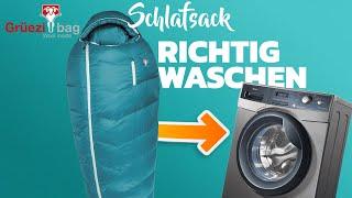 Wie kann man einen Schlafsack richtig waschen? - Schulungsvideo von Grüezi bag