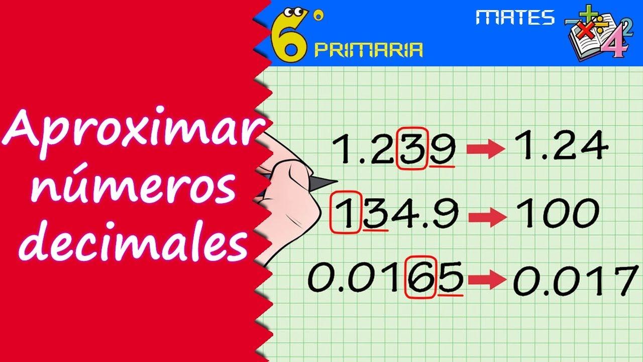 Aproximación de decimales. Mate, 6º Primaria
