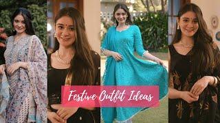 DIWALI FESTIVE LOOKBOOK   Indian Outfit Ideas   Sana Grover