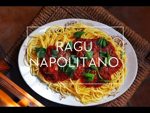 RAGU NAPOLITANO    RECETA ITALIANA FÁCIL PARA PASTA