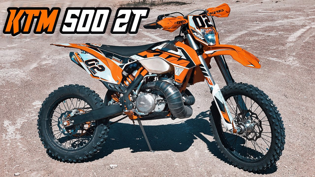 ESSAI DU 500cc 2 TEMPS KTM ! (J'ai mal aux bras !)