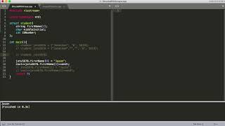 Data Structures Tutorial - 10 - How to Create an Array of Structs and a Struct Containing an Array