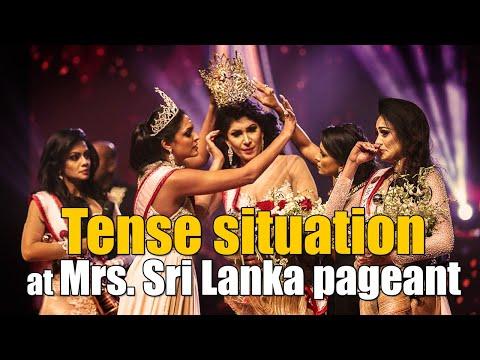 """Финал конкурса """"Миссис Шри-Ланка"""" завершился срывом короны с победительницы"""