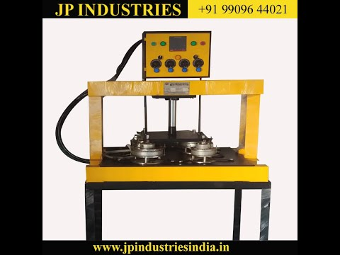 Double Die Semi Automatic Paper Plate, Dona, Thali , Dish Making Machine