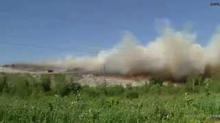 03.07.2015 пожар на полигоне ТБО Новый Свет