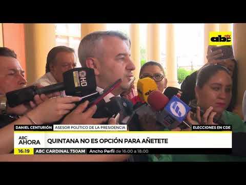 Quintana no es opción para Añetete