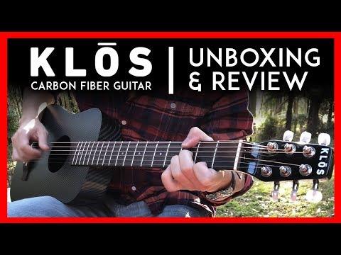 Klos Guitar Unboxing & Review 2018 🎸 Carbon Fiber Travel Acoustic Guitar