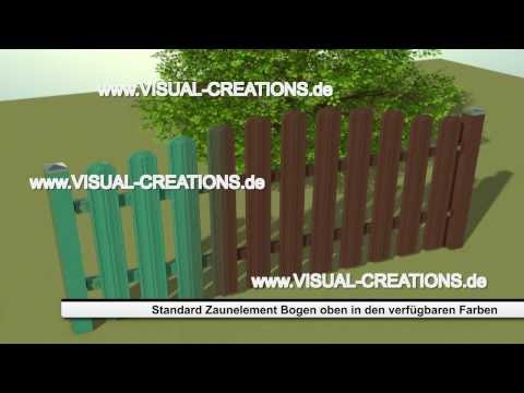 WPC Lattenzaun Zaunsystem Gartenzaun Zierzaun Zaun - Ausführungen und Farben
