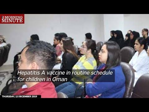 Hepatitis A vaccine in routine schedule for children in Oman