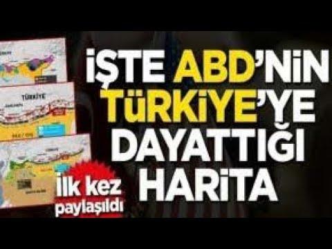 ABD'nin Türkiye'ye Dayattığı Harita Ortaya Çıktı !! Sır İfşa Oldu..Son dakika