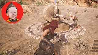 Conan Exiles (2018 PS4 Single Player): Scrubber Captures a Thrall (Episode 13 - Final)