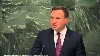 Prezydent Andrzej Duda MOCNE przemówienie w ONZ 28.09.2015